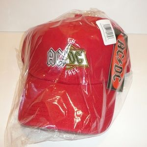88c2dad9c25 Bioworld Accessories - ACDC Band Split Logo Dad Style Hat Cap Red Music